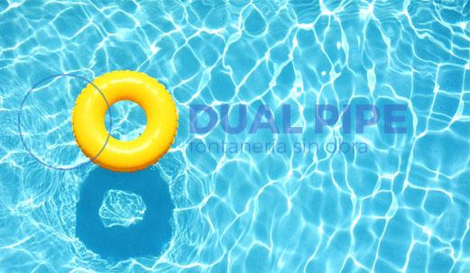 reparación tuberías piscina sin obra